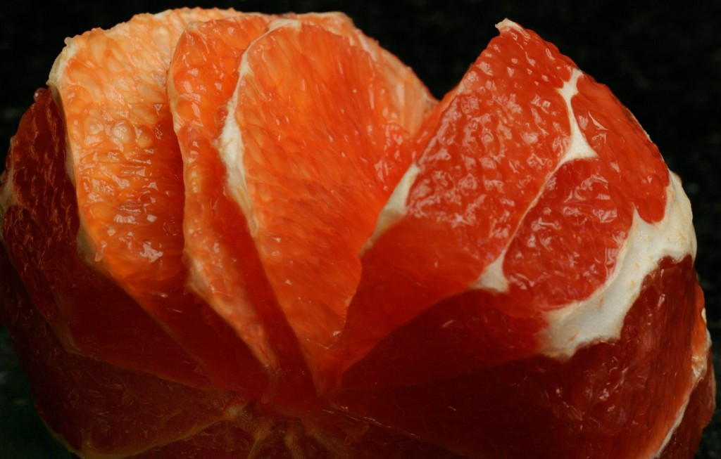 Grapefruit filetiert